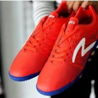 Original Sepatu Futsal Specs Apache In Red Merah Poppy Blue Biru Bes