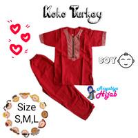 Baju Koko Turkey Anak Laki-Laki Size SML