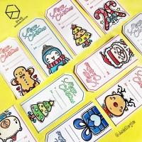 Hang Tag Natal Label Hadiah Christmas Souvenir Kartu Ucapan 3D Pop Up