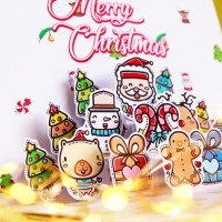 DWS Doodle 3D Pop Up Card Christmas Kartu Ucapan Natal