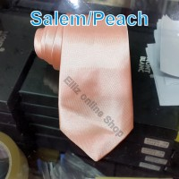 Dasi Panjang Pria Polos Salem / Peach Lebar 7,5cm /3 inch