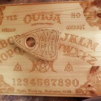 Ouija papan permainan ouija dengan kayu pine wood full grafir glossy
