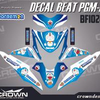 Sticker Decal Motor Beat Fi - DORAEMON