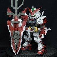Gundam SD Astray Red Frame Papercraft