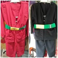Baju pangsi anak + sabuk + peci ( size S )