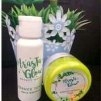 Paket arasta glow cream dan toner kemasan pot BPOM