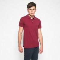 MON AKITA - Yanis Men Polo Shirt Maroon - Kemeja Polo Merah Tua Pria