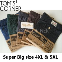 Celana dalam pria SUPER BIGSIZE   Boxer Jumbo Kingsman  4XL 5XL KM1XJ