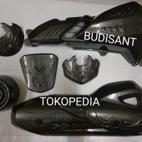 Paket Aksesoris Cover Part Carbon Honda PCX 150 Lokal Lengkap 8 Barang