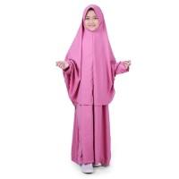 Bajuyuli - Baju Muslim Anak Perempuan Gamis Syar'i Polos Pink WSDP01