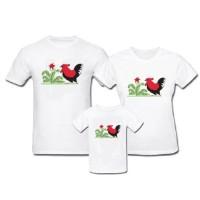 Kaos Family - Baju Keluarga Mangkok Ayam Jago