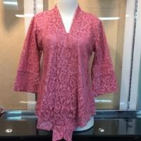 Atasan Kebaya Kutu Baru Brokat Floy Seri Warna Dusty Pink