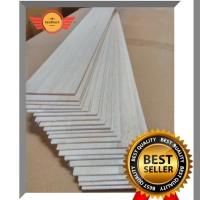 Kayu Balsa Sheet 1000 x 100 x 5 mm (VIA GOJEK & GRAB)