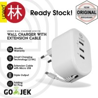 Uneed UCH110 Smart Travel Charger Fast Charging 3 USB Port