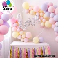 Balon latex macaron / balon macaron warna pastel 12iich per pack - mix mawrna