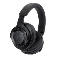 TERLARIS Audio Technica ATH WS990BT Solid Bass Over Ear Headphones Bl