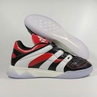 Sepatu Futsal Adidas Predator Accelerator Black White Red TF Replika I