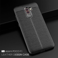 LEATHER CASE XIAOMI POCOPHONE F1 SOFT BACK COVER CASING SILICON