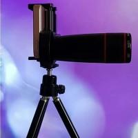Lensa Tele Telezoom Telescope 12X Tripod untuk HP Android Smartphone
