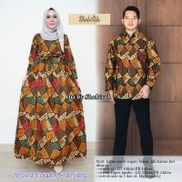 Moza batik couple jumbo(busana wanita,pasangan,sarimbit,baju pesta)