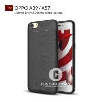 Case for OPPO A39 / A57 Premium TPU Autofocus Leather - Hitam