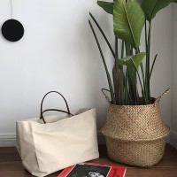 TW1832 Tote Bag Kapasitas Besar Tas Kanvas Premium Shoulder Hand Bag