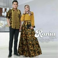 Baju Couple Batik Motif Cantik CP Rania Set Copel Mustard