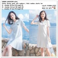 Dog Mini Dress Kemeja Casual Wanita Korea Import AB434245 Putih White