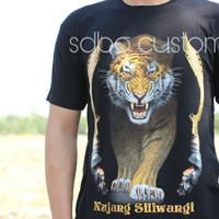 baju kaos spandek gambar macan kuning kujang siliwangi