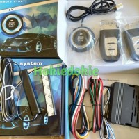 Keyless entry alarm mobil button start remote anti maling