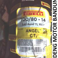 Pirelli 100/80-14 Angel CT Rear Ban Tubeless Motor Matic Honda Yamaha