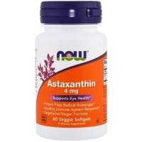 Now Foods Food Astaxanthin Astaxantin 4mg 4 mg 60 Softgels
