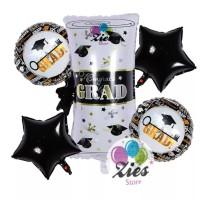 Balon foil paket graduation / balon sarjana / congrats / paket wisuda