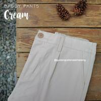 Baggypants/baggy pant cream/bawahan cewek/celana kantor/celana murah