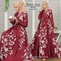 Baju Busana Muslim Wanita Gamis Syari Pesta Maxmara Lux Azura Terbaru