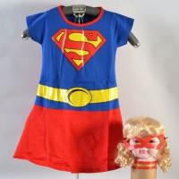 Dress Baju Kostum Anak Cewek Supergirl Superhero Halloween
