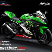 New Design Decal Striping Ninja 250 Fi Hijau 2018 DG Stiker