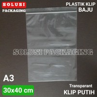 PLASTIK KLIP BAJU 30X40CM/PLASTIK DISTRO/KEMASAN KEMEJA KAOS SEPATU