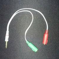 Audio Mic Splitter Combiner Adapter for Headset Handsfree