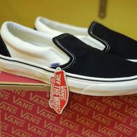 Sepatu Vans slip on anaheim surf skate - anaheim off white black