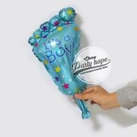 balon foil kaki baby boy mini / balon kaki bayi cowo / baby shower