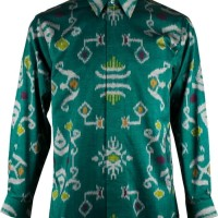 Baju Hem Pria Mode Batik Tenun Motif Lengan Panjang