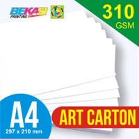 Kertas Art Carton 310 GSM A4 21 x 29.7 cm