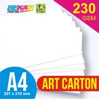 Kertas Art Carton 230 GSM A4 21 x 29.7 cm
