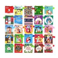 Dompet Motif Natal Mini Pouch Uang Koin Receh Kecil Angpao Christmas