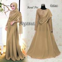 Baju Busana Muslim / Gamis Syari Gaun Pesta Dress Maxi Ayana Coksu