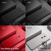 CAFELE Xiaomi Redmi 5 Plus Casing Case Black Grey White Red Soft TPU