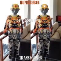 Baju Kostum Anak Karakter Superhero TRANSFORMER BUMBLEBEE 5-8 Tahun