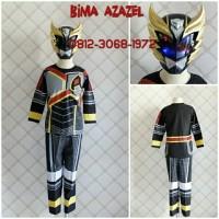 Baju Kostum Anak Karakter Superhero BIMA X HITAM AZAZEL TOPENG NYALA