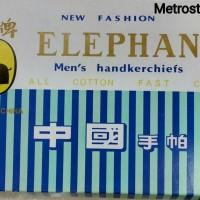 6Ps SAPU TANGAN ELEPHANT/SAPU TANGAN KATUN/LAP MUKA/WARNA GELAP&TERANG